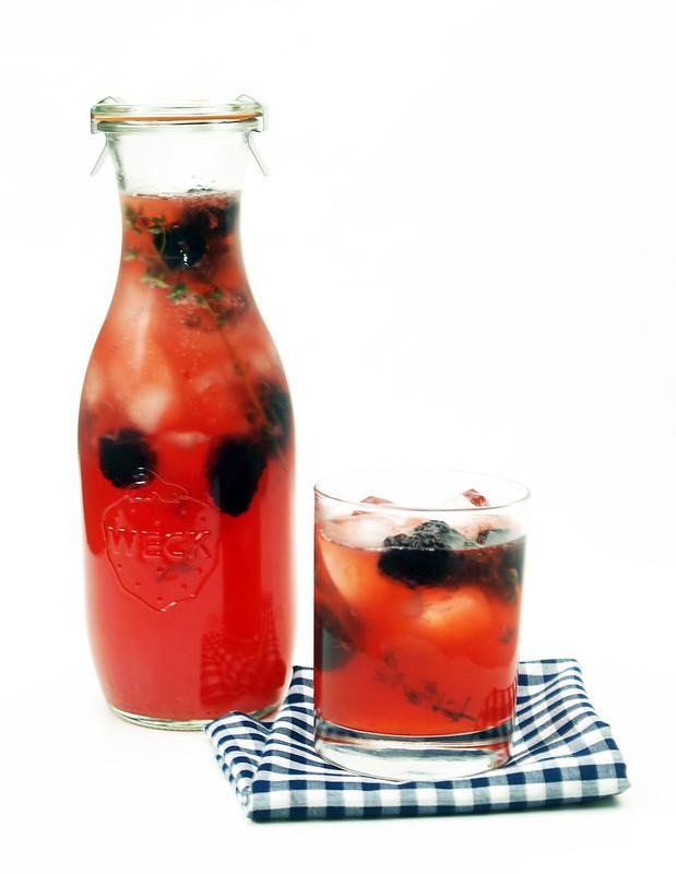 A Simple Syrup Blackberry Lemonade
